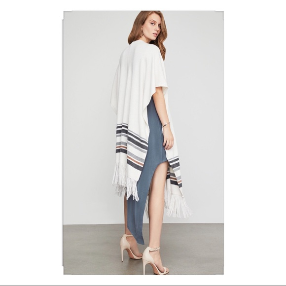 BCBGMAXAZRIA Womens Kiril Long Poncho
